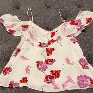 NWT cold shoulder floral top.